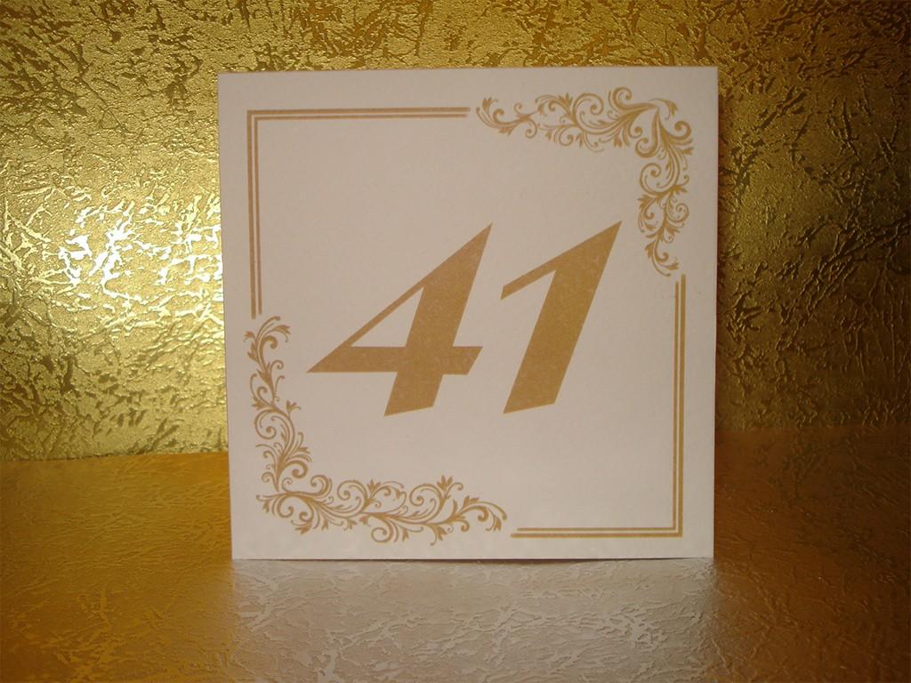 Brojevi za stolove italijanski papir sa strukturom 12