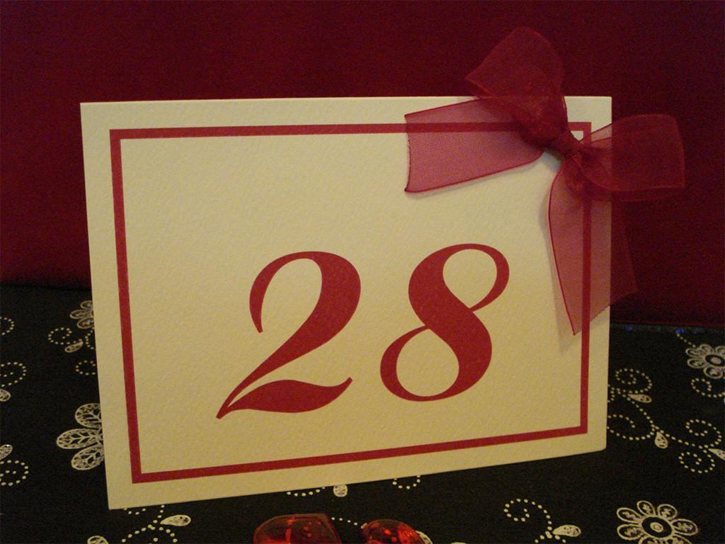 Brojevi za stolove italijanski papir sa strukturom 13