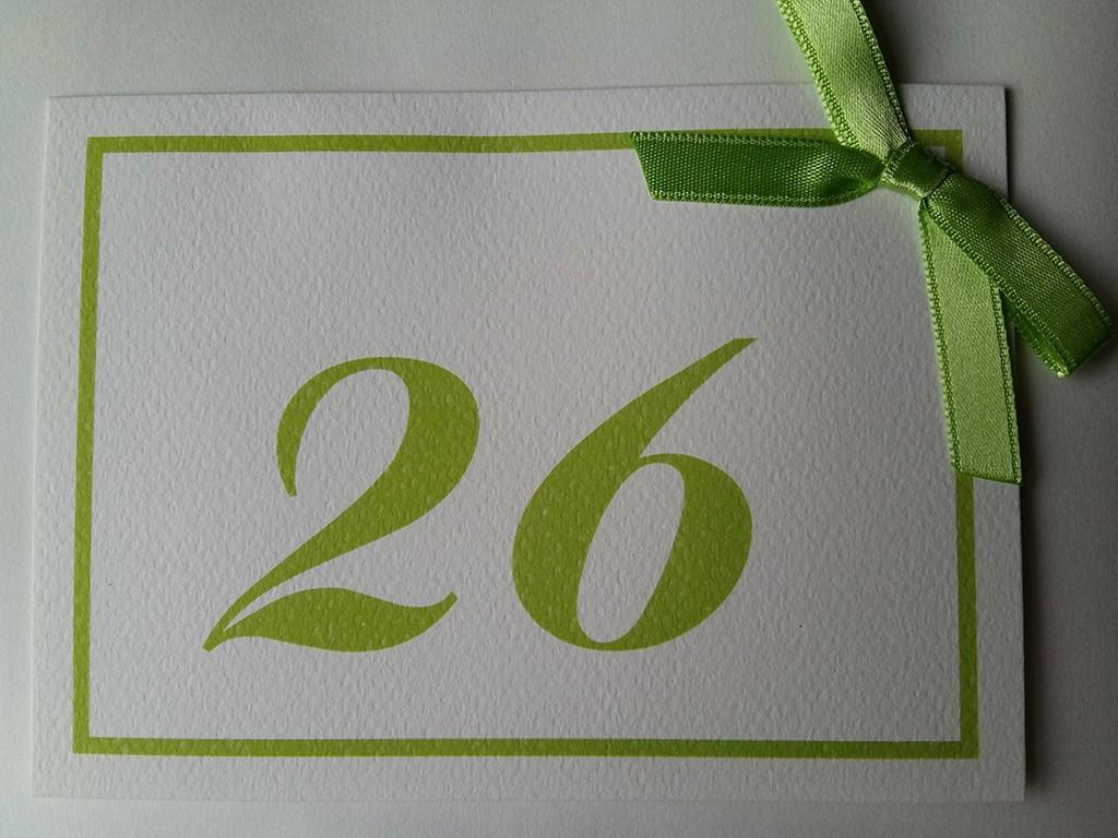 Brojevi za stolove italijanski papir sa strukturom 15