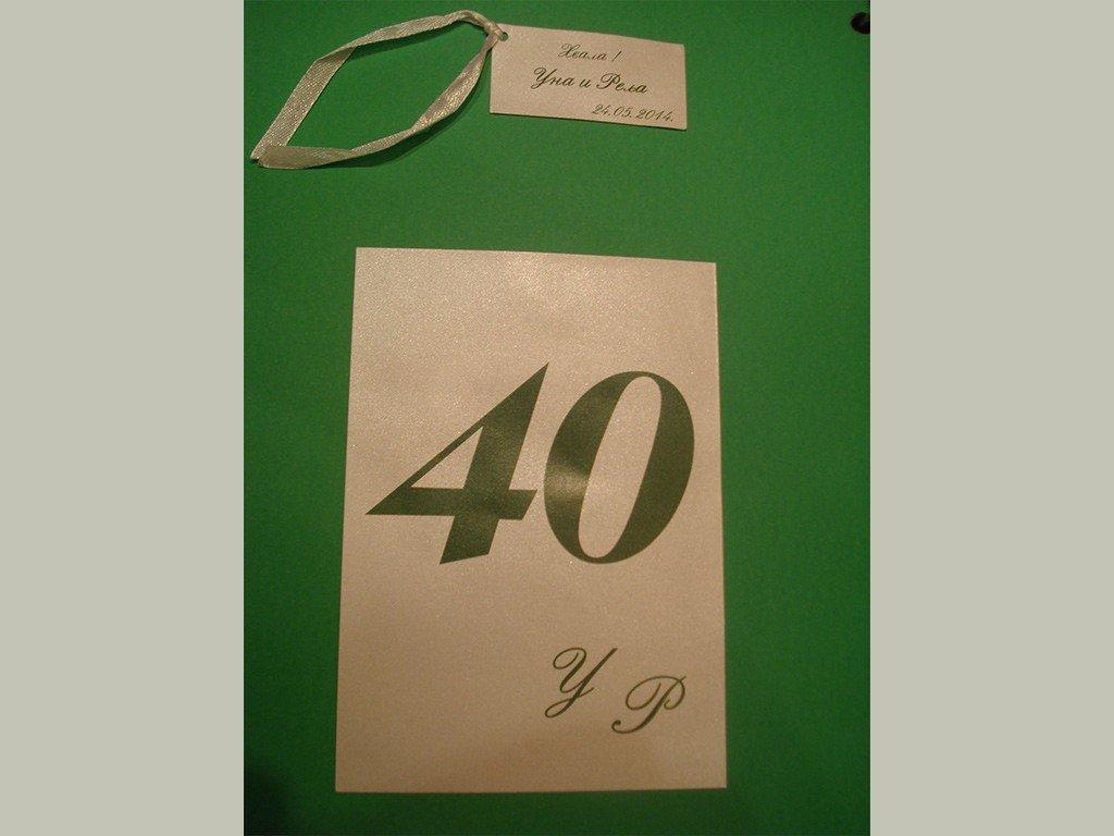 Brojevi za stolove – italijanski papir koji se presijava 14