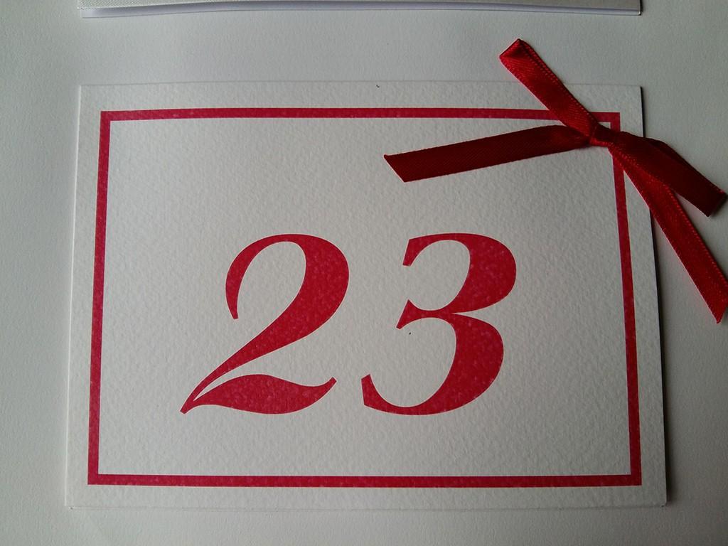 Brojevi za stolove italijanski papir sa strukturom 17