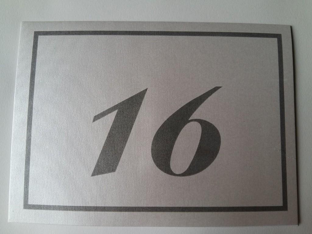 Brojevi za stolove – italijanski papir koji se presijava 16