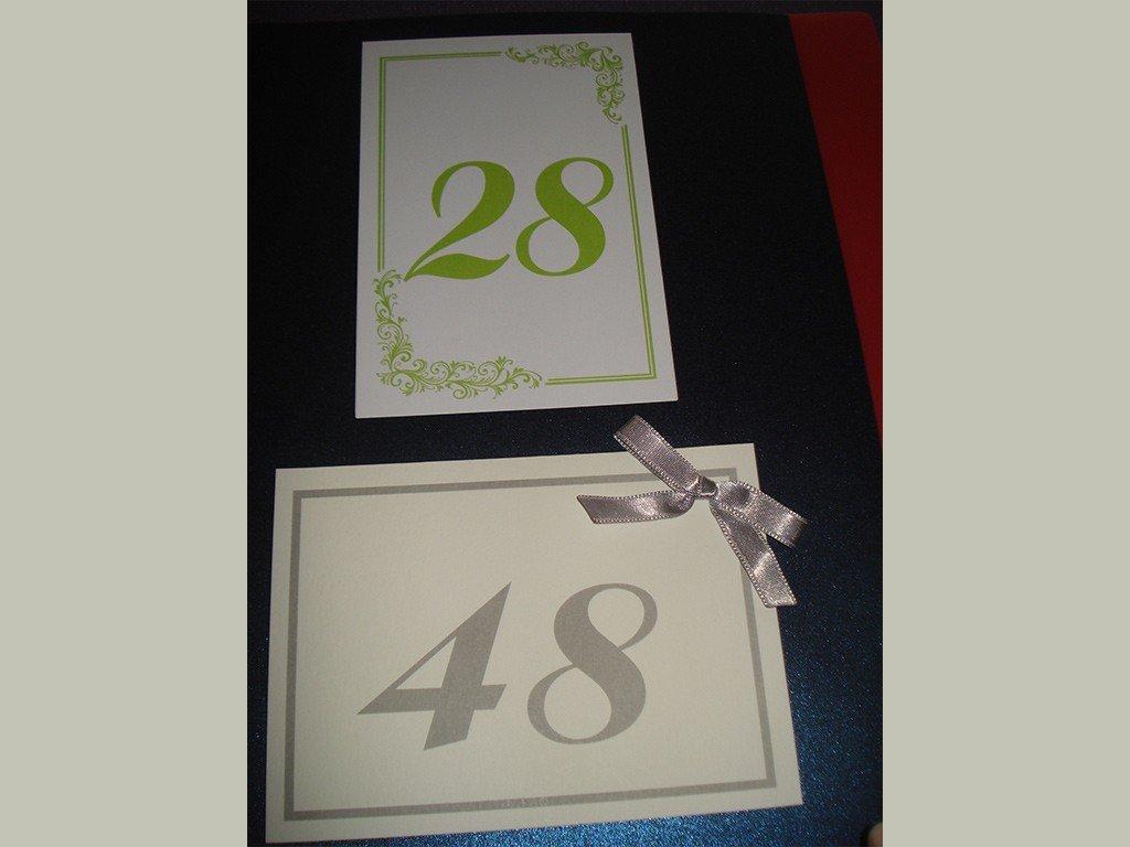 Brojevi za stolove italijanski papir sa strukturom 19