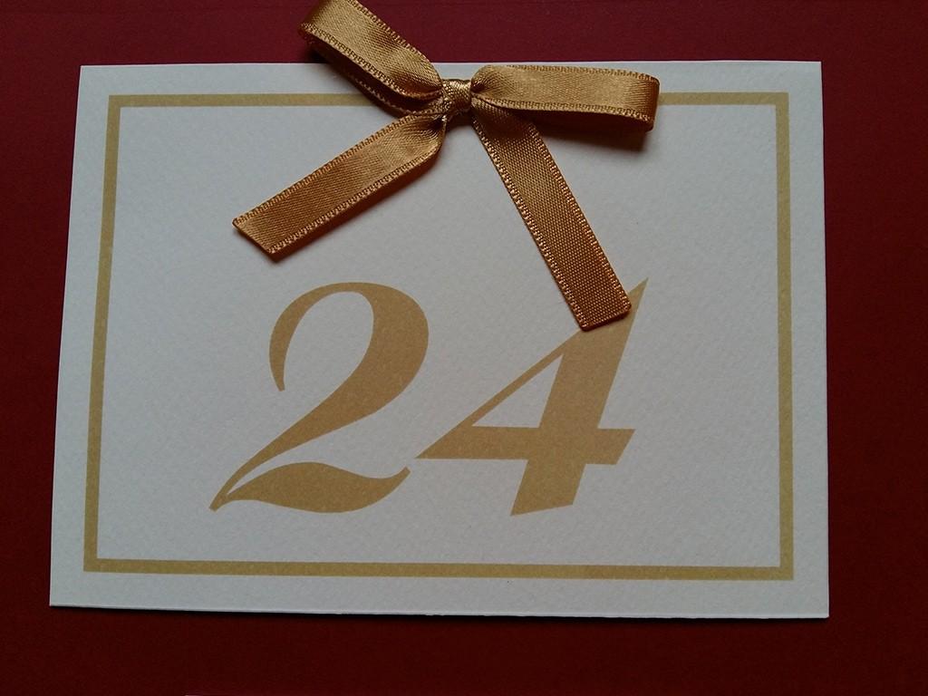Brojevi za stolove italijanski papir sa strukturom 22