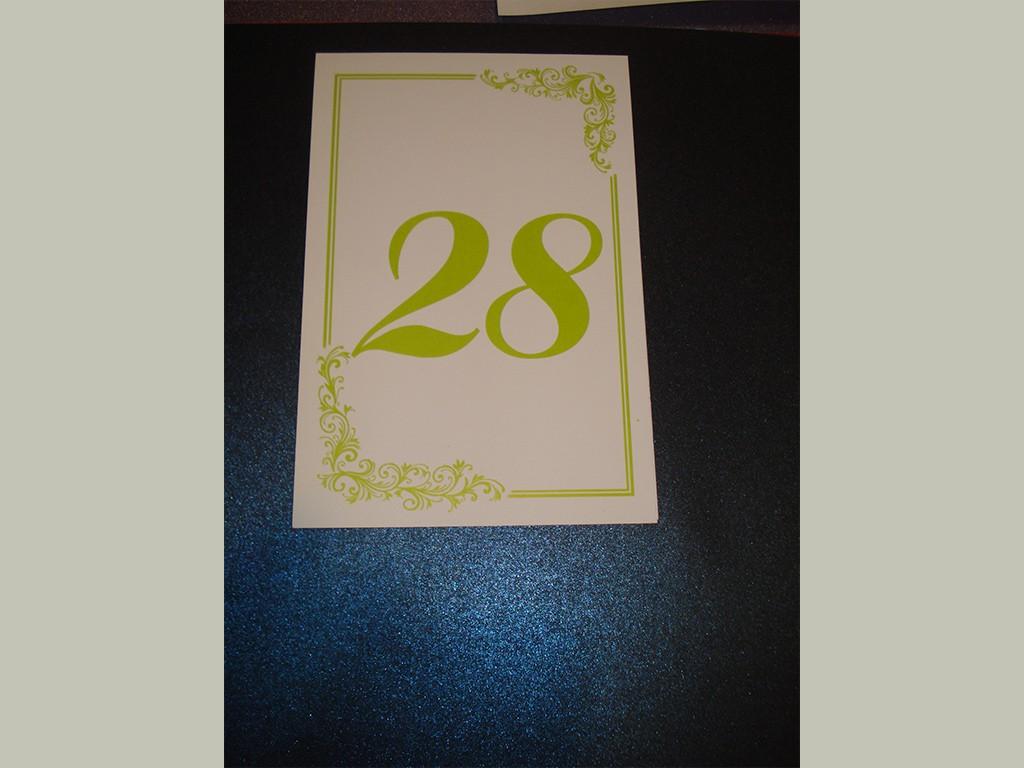 Brojevi za stolove italijanski papir sa strukturom 24