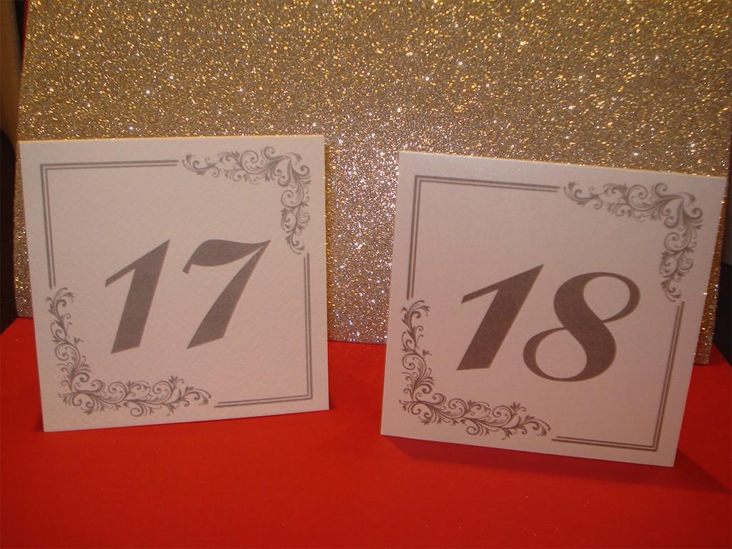 Brojevi za stolove italijanski papir sa strukturom 25