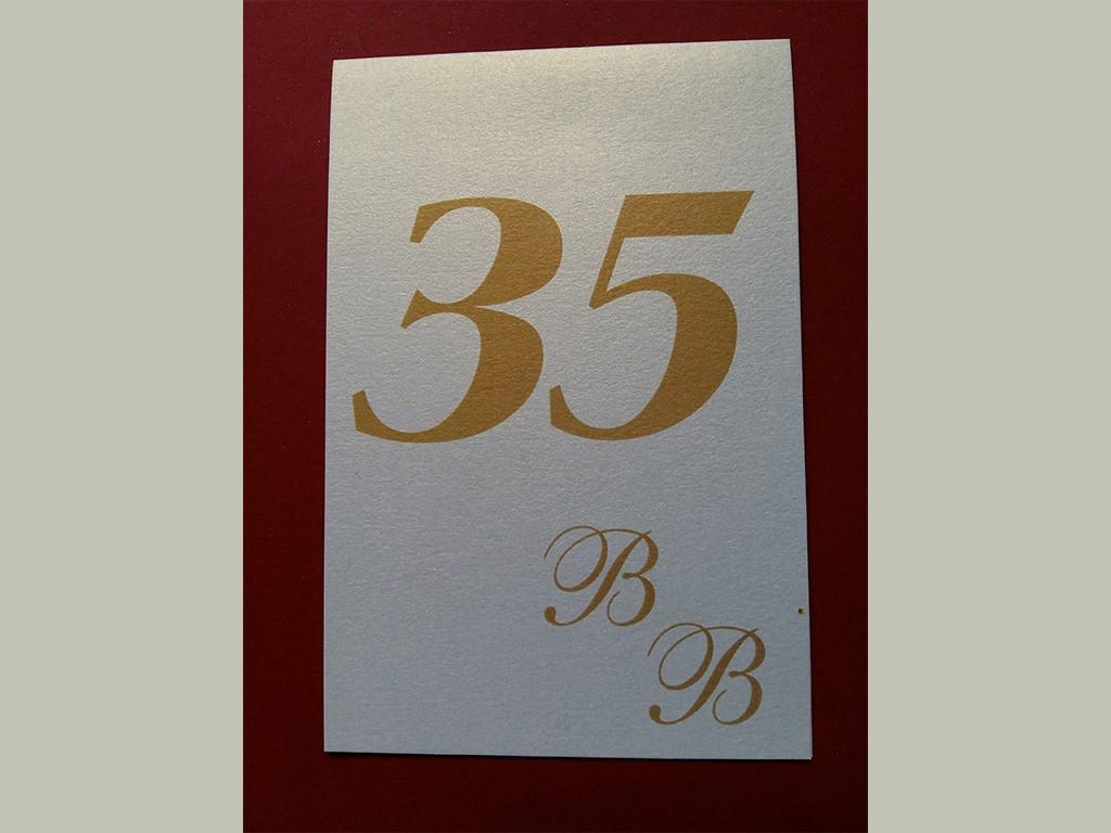 Brojevi za stolove – italijanski papir koji se presijava 23