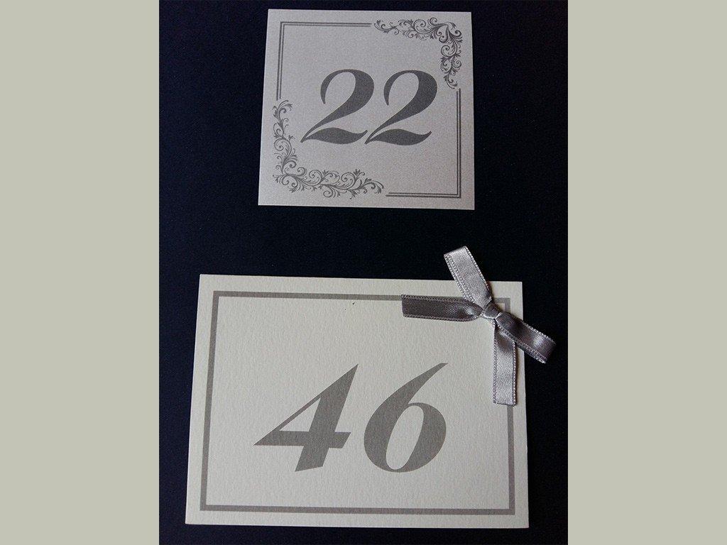 Brojevi za stolove italijanski papir sa strukturom 8