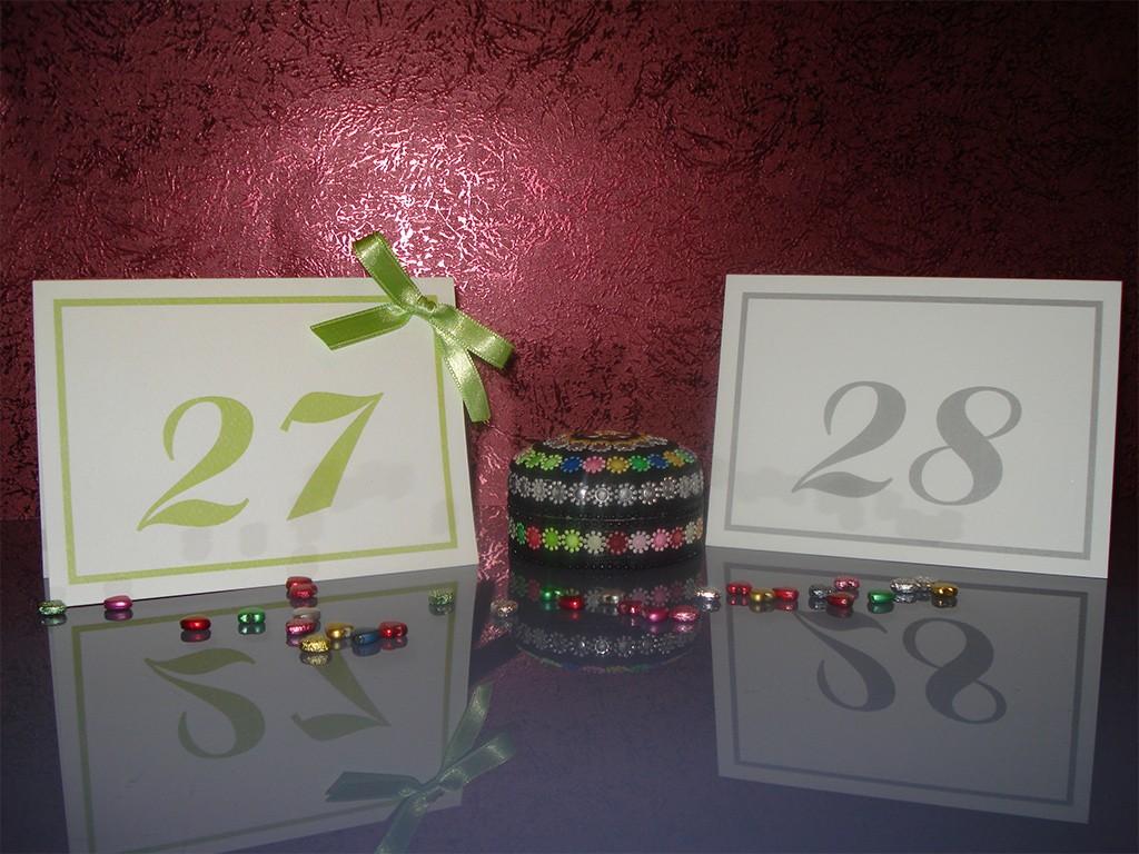 Brojevi za stolove italijanski papir sa strukturom 10