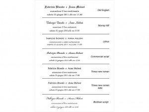 Fontovi i izbor tekstova za pozivnice 10