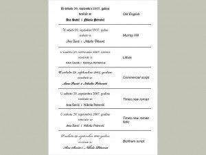 Fontovi i izbor tekstova za pozivnice 6