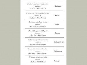 Fontovi i izbor tekstova za pozivnice 7
