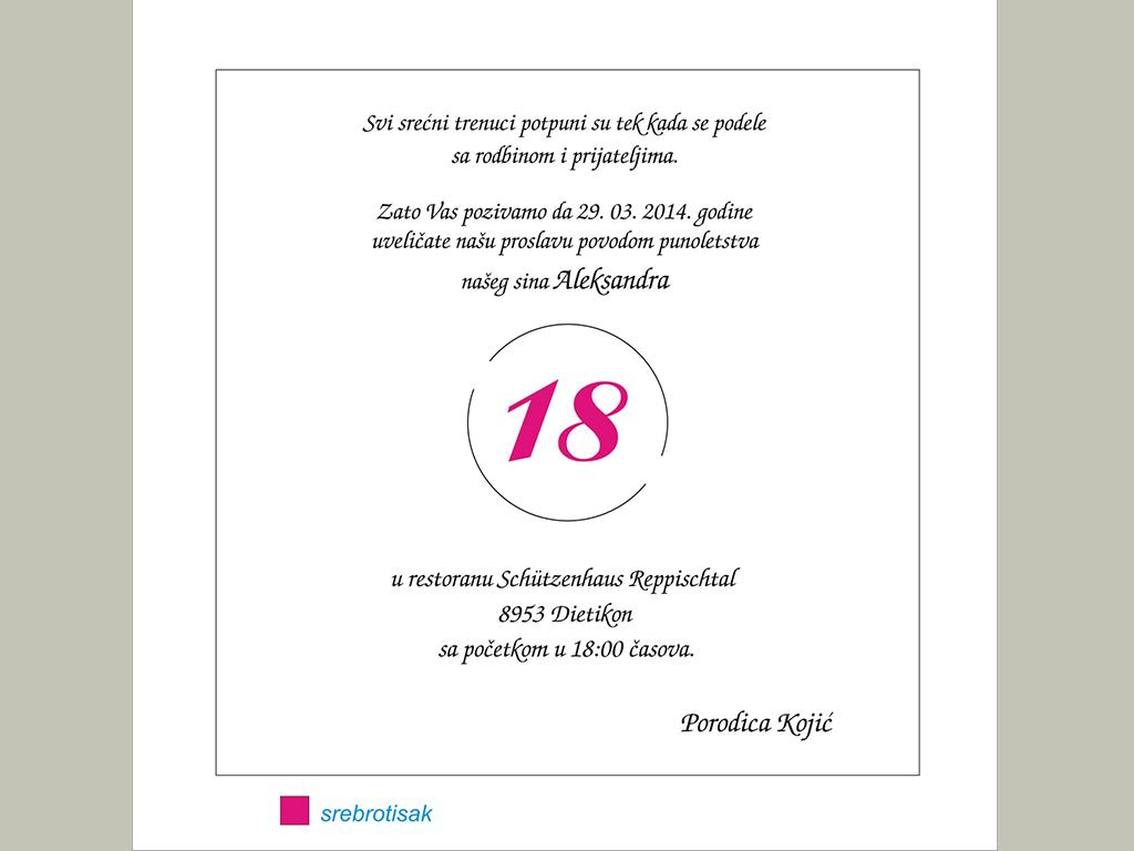 kako napisati pozivnicu za rođendan Tekstovi 18. rodjendani   pozivnicelana kako napisati pozivnicu za rođendan